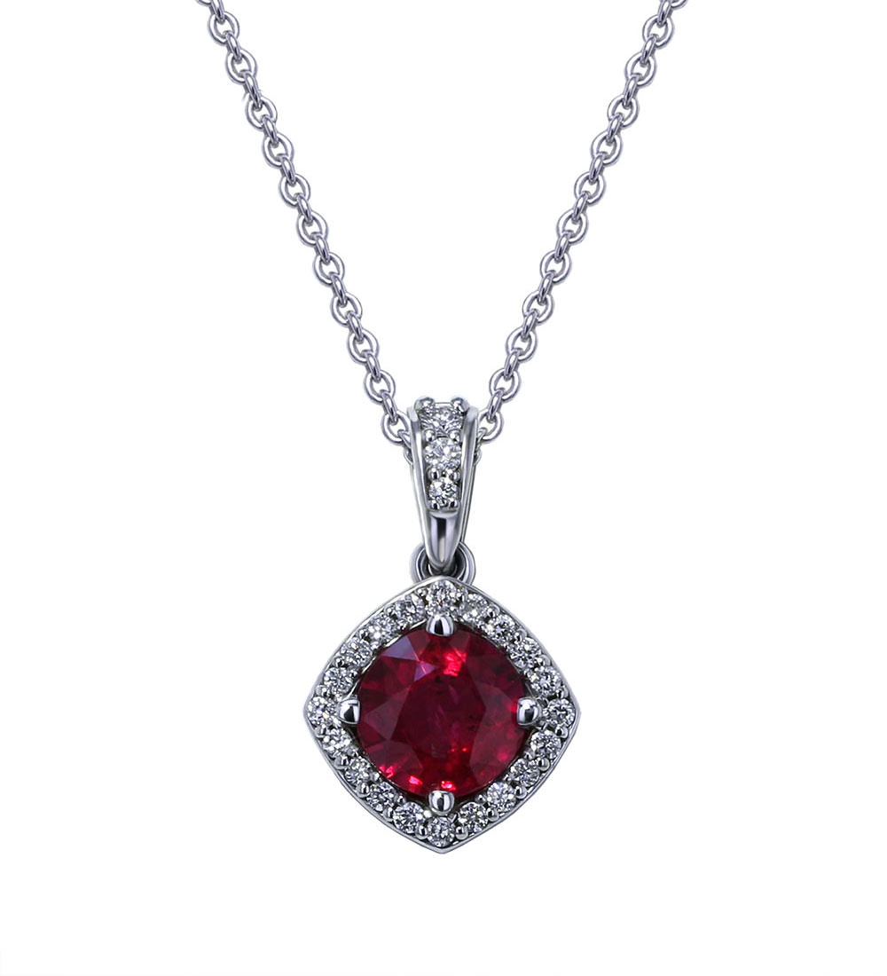 index necklace diamond ruby