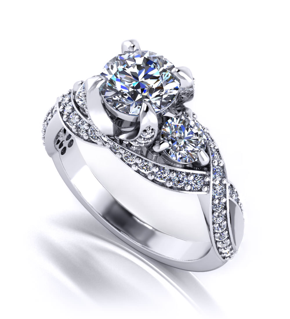 Three stone engagement rings jewelry designs for The future is female jewelry