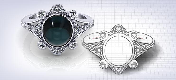 Custom Tourmaline Rings