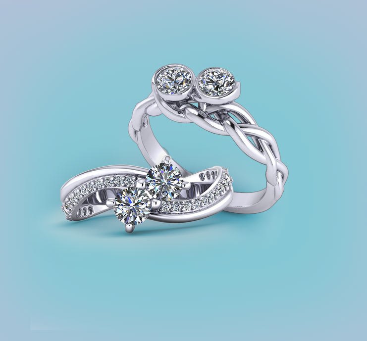 Browse Two Stone Diamond Rings