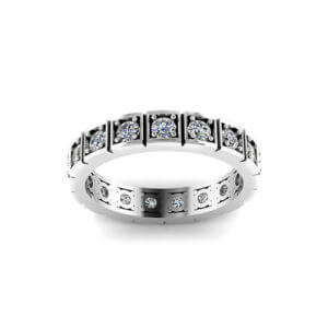 Square Eternity Wedding Ring