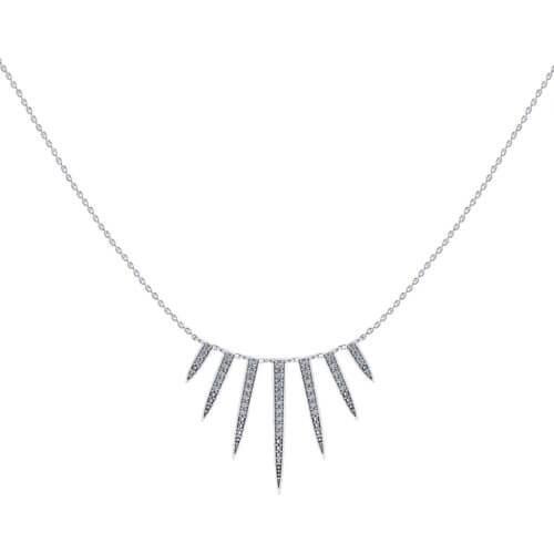 Diamond Tassel Bib Necklace