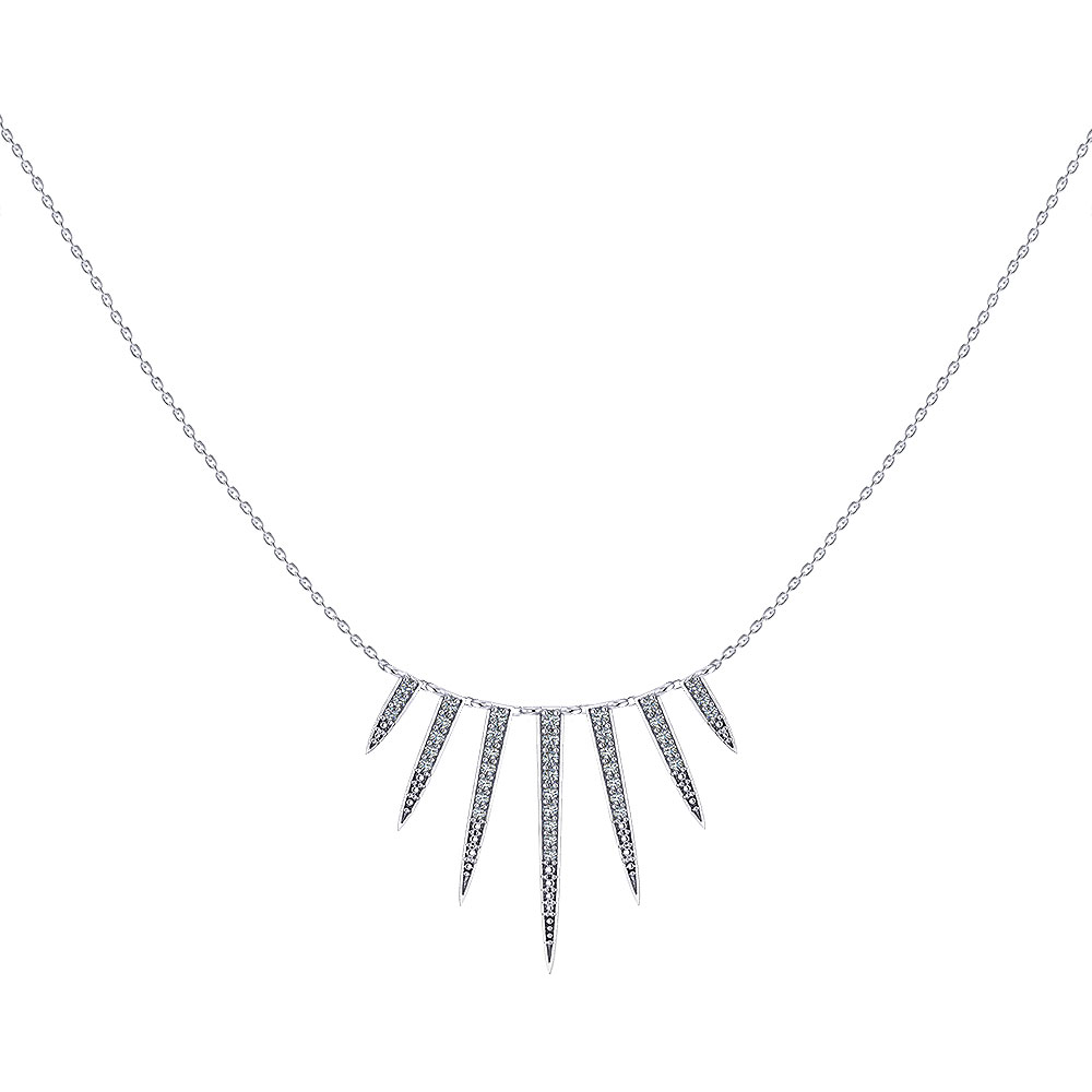 Diamond Tassel Bib Necklace